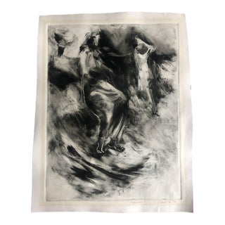 1970s Abstracted Figure Aquatint For Sale
