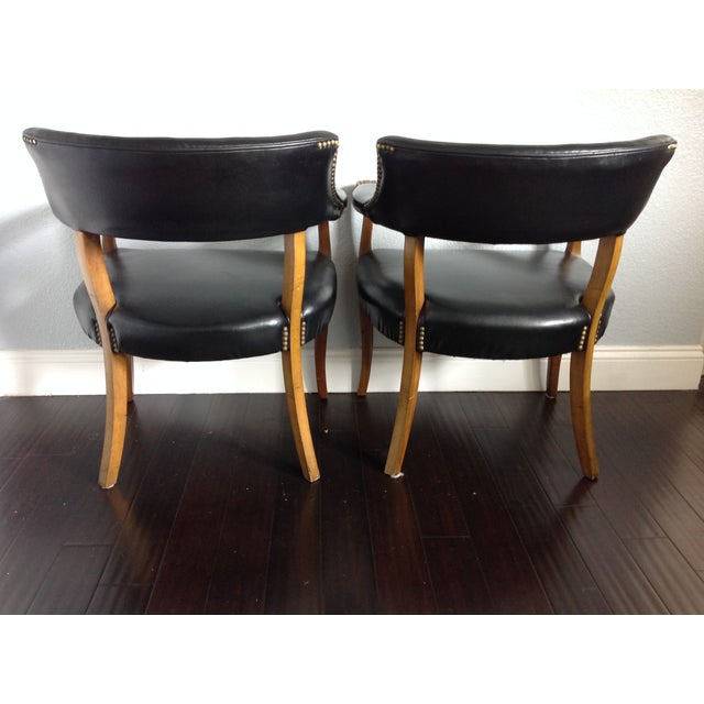 Mid-Century Style Black Armchairs - A Pair - Image 5 of 11