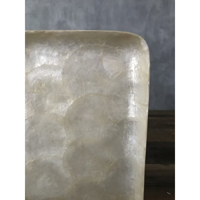 Square Capiz Shell Tray For Sale - Image 4 of 6