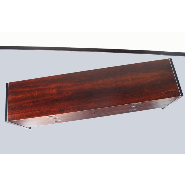 Aluminum Rosewood Dresser by Robert Baron for Glenn of California For Sale - Image 7 of 7
