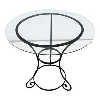 Vintage Wrought Iron & Glass Garden Table