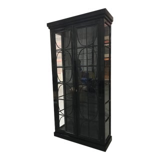 Contemporary Curio Glass Cabinet For Sale