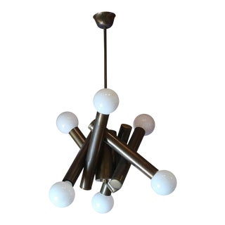A Brass Ceiling Lamp by Stilnovo, Italy 50'