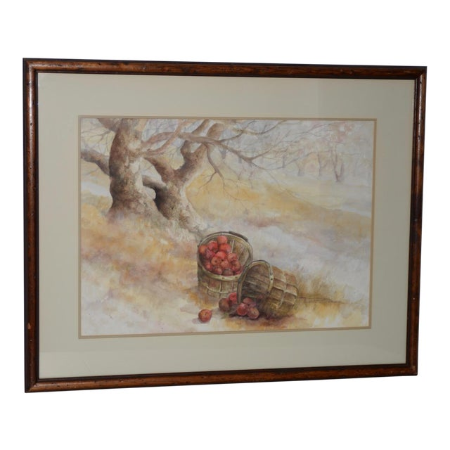 "Maxine Remont Macway (American, 20th C.) ""Forgotten Baskets"" Original Watercolor For Sale"