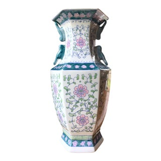 Chinoiserie Hand-Painted Bird Vase For Sale