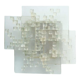 Italian Modern Glass Wall Light, Angelo Brotto For Sale