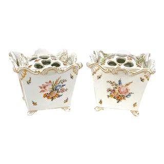 Marcolini Meissen Tulipiers - a Pair For Sale