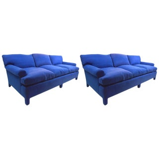 Pair of Custom Sofas by Thomas De Angelis For Sale