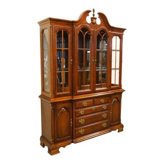19th Century Vintage Lexington Furniture Cherry China Cabinet For Sale