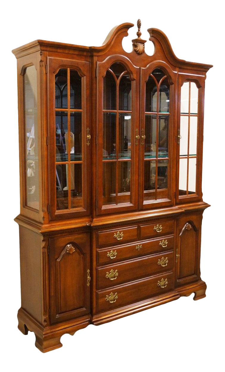 19th Century Vintage Lexington Furniture Cherry China Cabinet