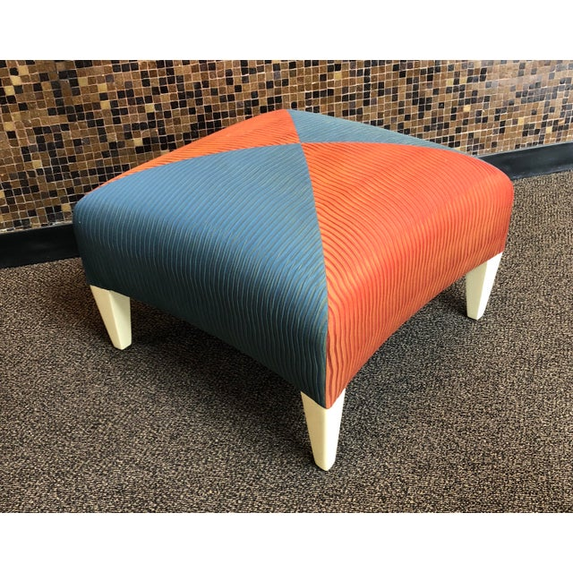 Donghia Square Ottoman For Sale - Image 4 of 8