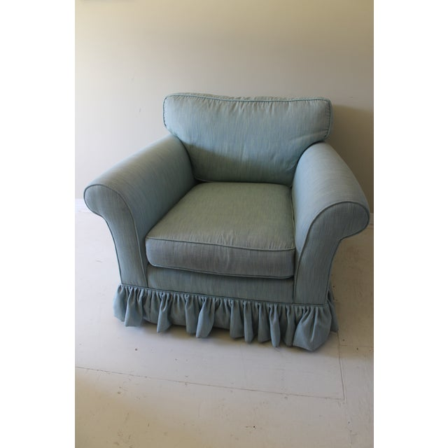 Modern Oversized Upholstered Club Chair For Sale - Image 10 of 10