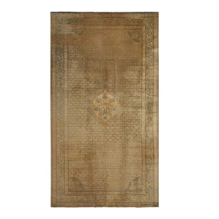 Antique Sivas Traditional Bronze and Blue Wool Rug- 6′ × 11′3″ For Sale