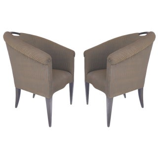 Donghia Upholstered Club Chairs- a Pair For Sale