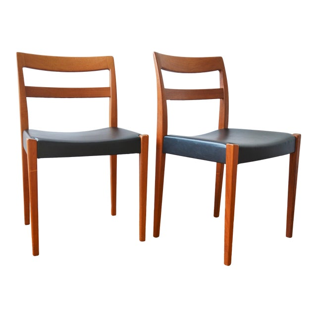 """Swedish Modern Teak """"Garmi"""" Dining Chairs by Nils Jonsson for Troeds - a Pair For Sale"""