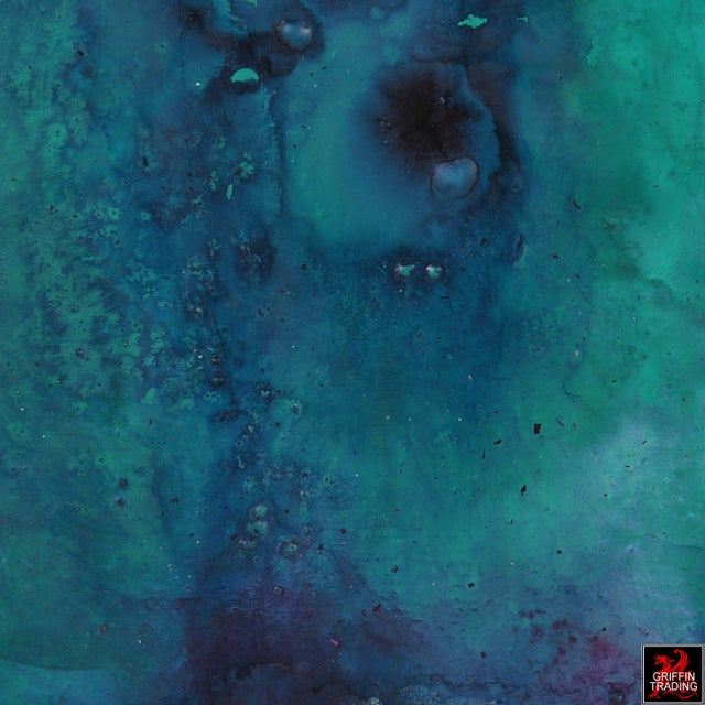 Blue AN23 Green, Blue and Purple Abstract Painting For Sale - Image 8 of 10