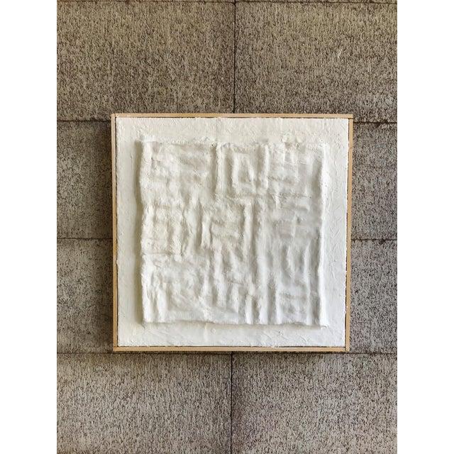 2020s 'Gridlines' Framed Minimalist Plaster Painting For Sale - Image 5 of 6