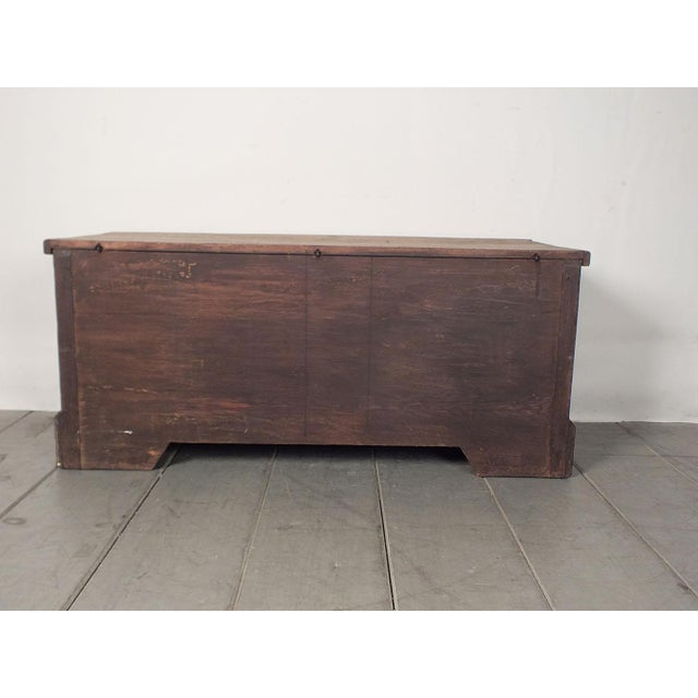 Antique Bleached Wood Blanket Chest - Image 9 of 9