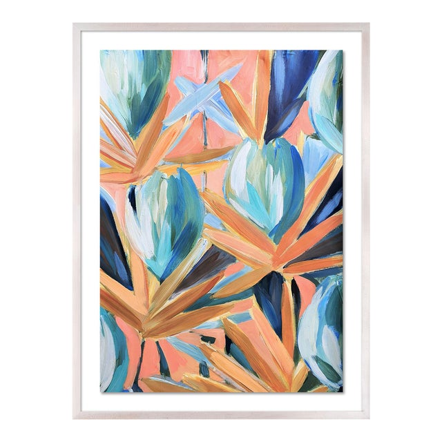 Lyford 2 by Lulu DK in White Wash Framed Paper, Large Art Print For Sale