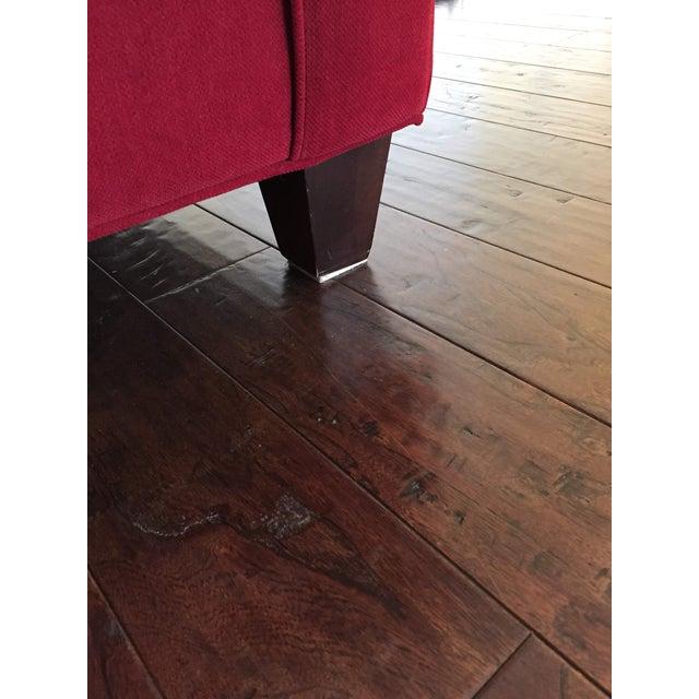 Bassett Furniture Contemporary Bassett Chenille Sofa For Sale - Image 4 of 9