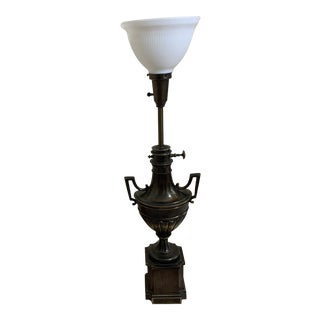 Stiffel Torchiere Brass Table Lamp For Sale