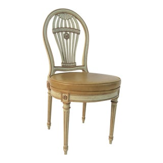 John Widdicomb Regency Decorated Side Chair For Sale