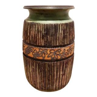 Andrew Bergloff (1929 - 2015) Signed Ceramic Vase For Sale