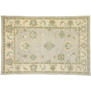 Contemporary Turkish Oushak Rug - 6′4″ × 9′8″ For Sale