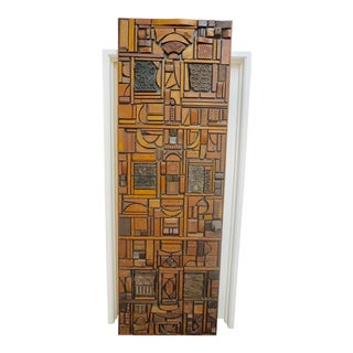 Mabel Hutchinson Abstract Wood Sculpture For Sale