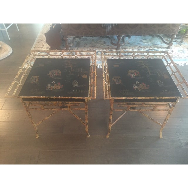 Vintage Chinoiserie Tables - A Pair - Image 2 of 10