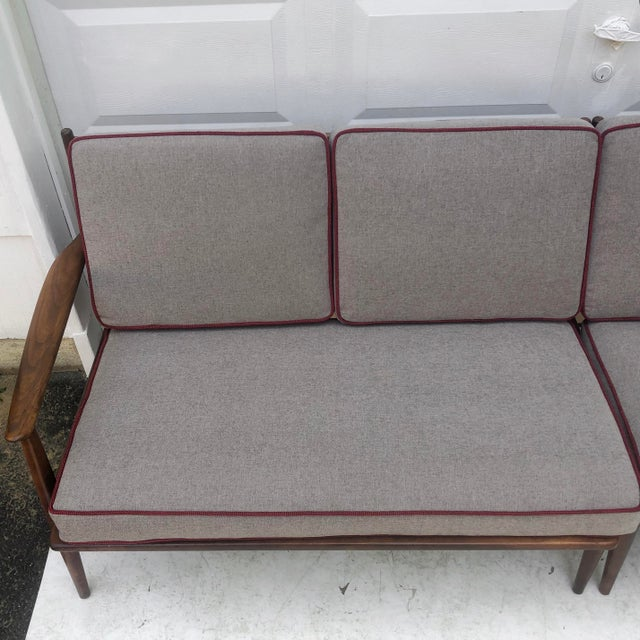 Mid-Century Modern Two Piece Sofa by Baumritter For Sale In New York - Image 6 of 13