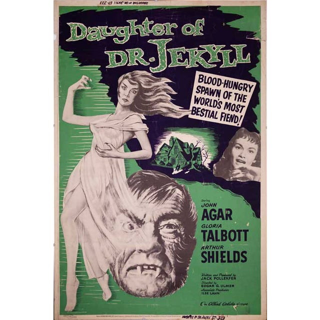 Daughter of Dr. Jekyll Giant 1957 Drive-In Poster - Image 2 of 2