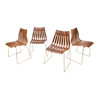 Hans Brattrud Rosewood Chairs - Set of 4 For Sale