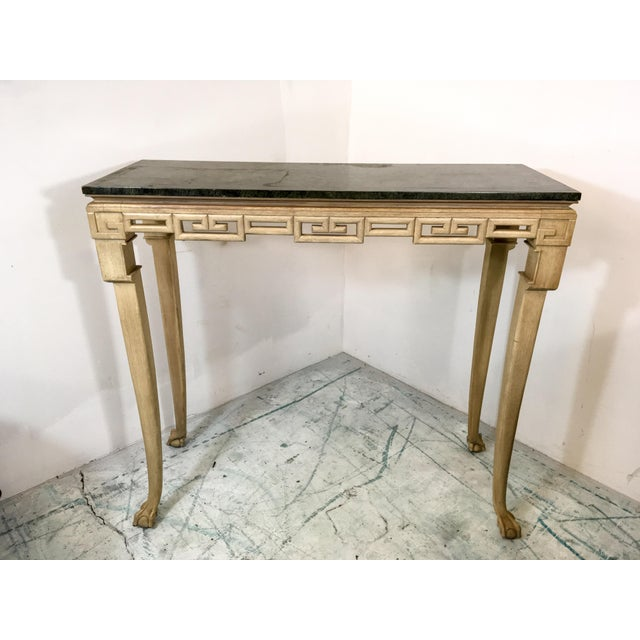 Italian Greek Key Tall Console Table - Image 6 of 6