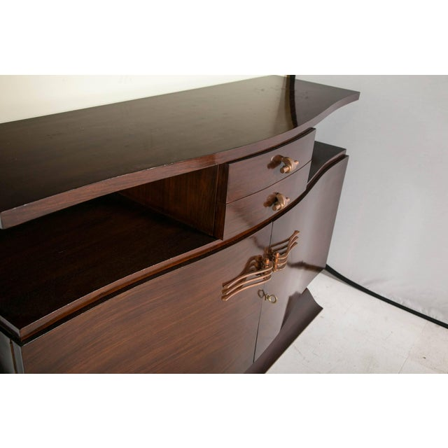 Brown French Art Deco Rosewood Sideboard For Sale - Image 8 of 10