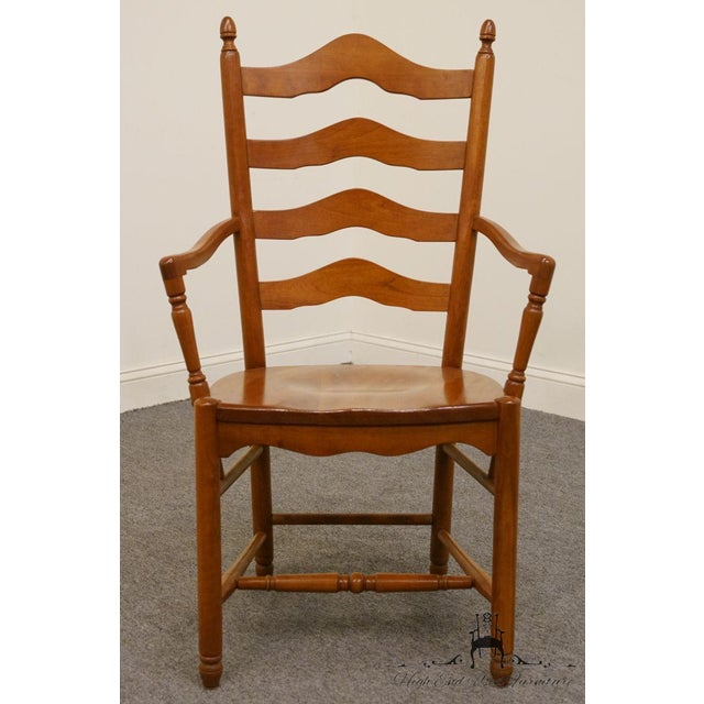 Farmhouse Late 20th Century Vintage Tom Seely Cherry Ladder Back Dining Chair For Sale - Image 3 of 10
