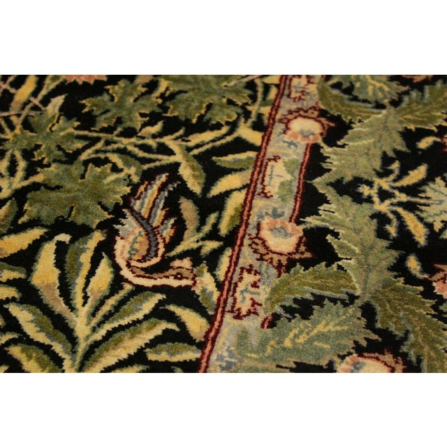 2010s Imran Pak-Persian Danette Black/Green Wool Rug - 4'1 X 6'0 For Sale - Image 5 of 8