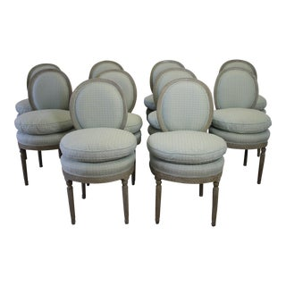 Swedish Gustavian Style Dining Chairs - Set of 10