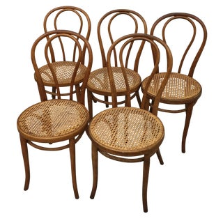 Thonet Caned Ice Cream Parlor Chairs - Set of 5