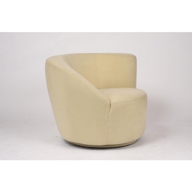 Wood Pair of Vladimir Kagan 1970 Swivel Lounge Chairs For Sale - Image 7 of 10