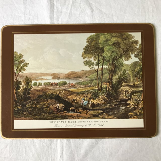 Traditional Traditional English Scene Placemats - Set of 6 For Sale - Image 3 of 9