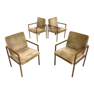 Milo Baughman for Founders in Suede Leather - Set of 4