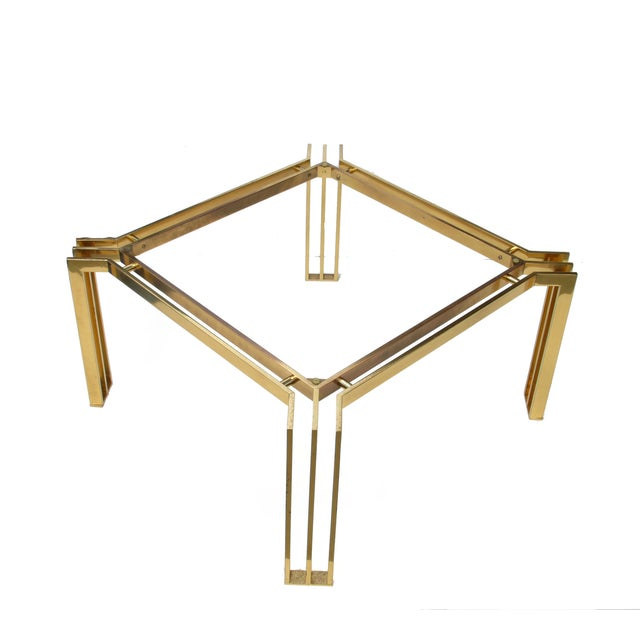 Italian Mid-Century Modern Brass Coffee Table For Sale - Image 10 of 10