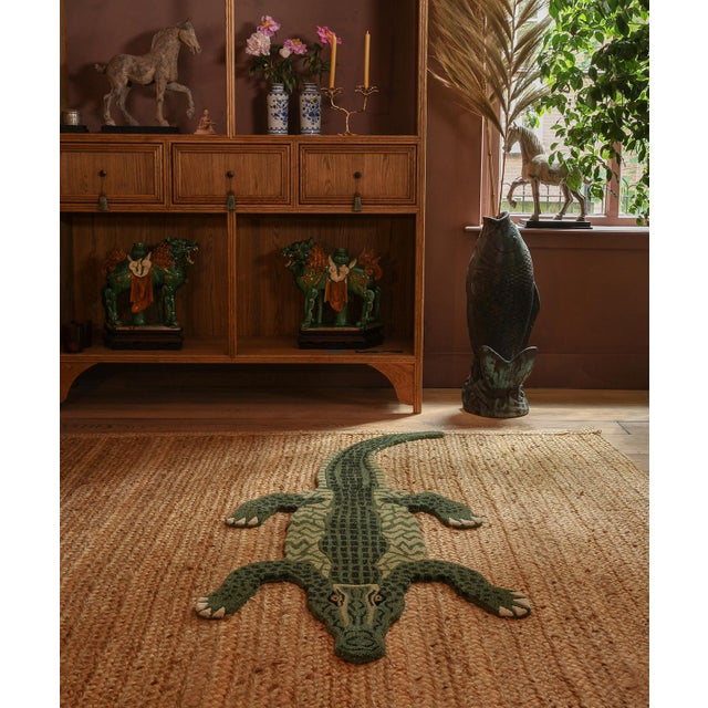 Not Yet Made - Made To Order Doing Goods Coolio Crocodile Rug Large For Sale - Image 5 of 6