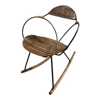 Arthur Umanoff for Raymor Wooden Rocking Chair For Sale