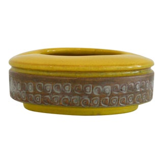 Yellow Mid-Century Alvino Bagni for Raymor Ashtray
