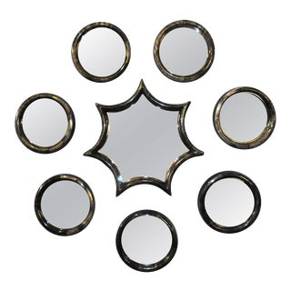 Set of Eight Parchment Mirrors For Sale