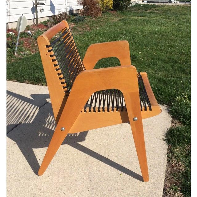 Mid-Century Modern Vintage Robert Kayton Cord Chair For Sale - Image 3 of 9