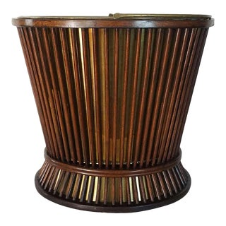 Circa 1800 George III Mahogany and Brass Peat or Kindling Bucket For Sale
