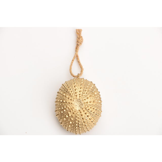 Americana Golden Sea Urchin Ornaments - Set of 6 For Sale - Image 3 of 6